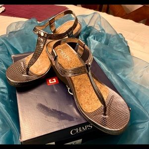 Chaps Metallic silver sandals